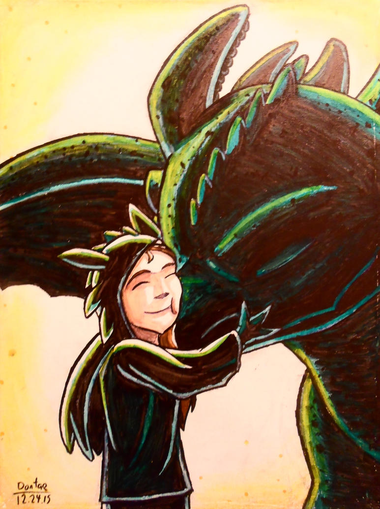 Chess and Toothless by BrokenHAX