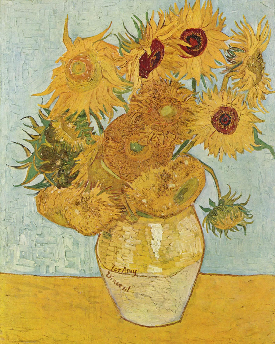 Van Gogh s Sunflowers with Vincent Van Gogh Doctor Who Sunflowers