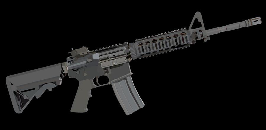 M4 assault rifle   Stock Vector   Colourbox