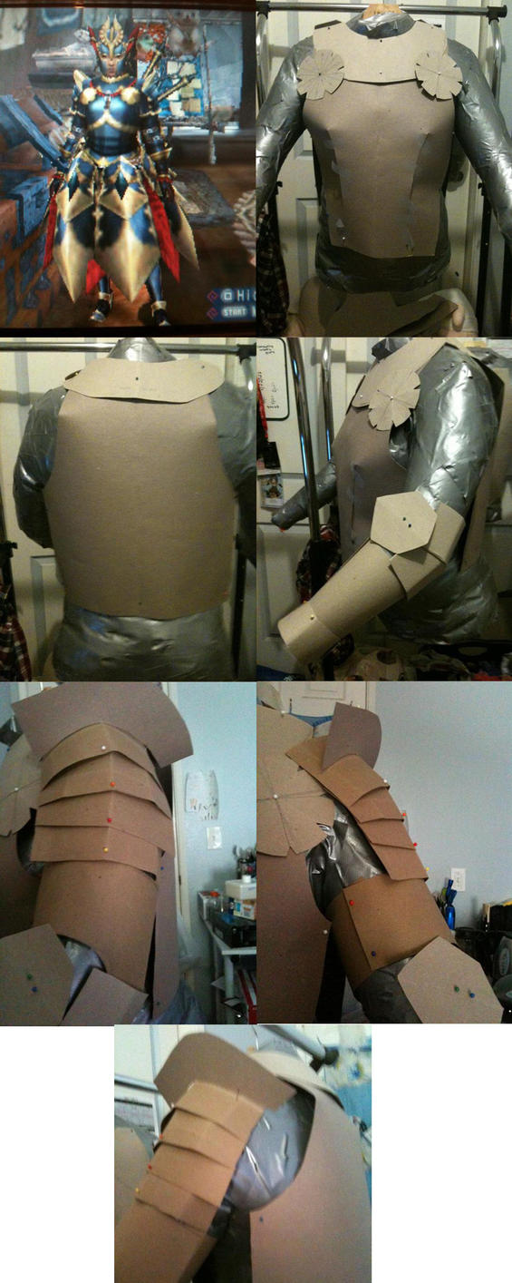 MONSTER HUNTER-WIP DAMASCUS ARMOR by KigenNaiteiru