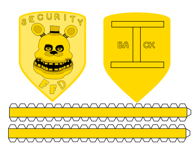 Fredbear's Family Diner Badge papercraft by MylestheHedgehog13