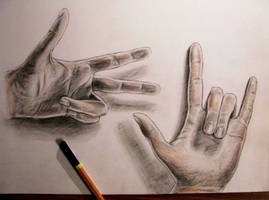 My hand drawing. by Shh-GonnaDrawNow