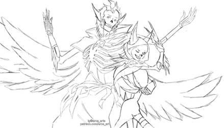 Rakan and Xayah Skeletons