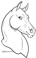 Horse Portrait Lineart. by Manic-and-Monstrous