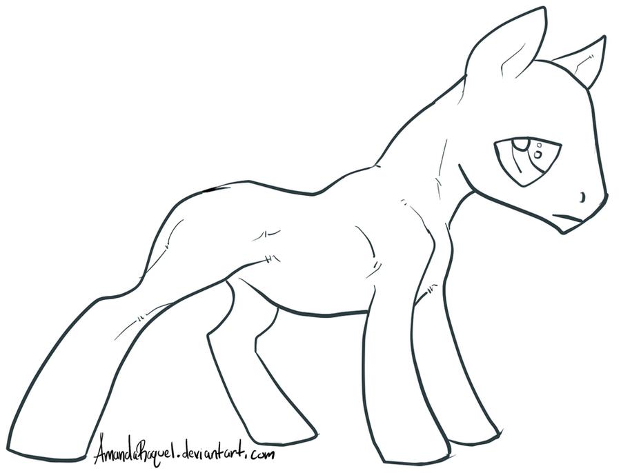 Tired Boy Pony Base by AmandaRaquel