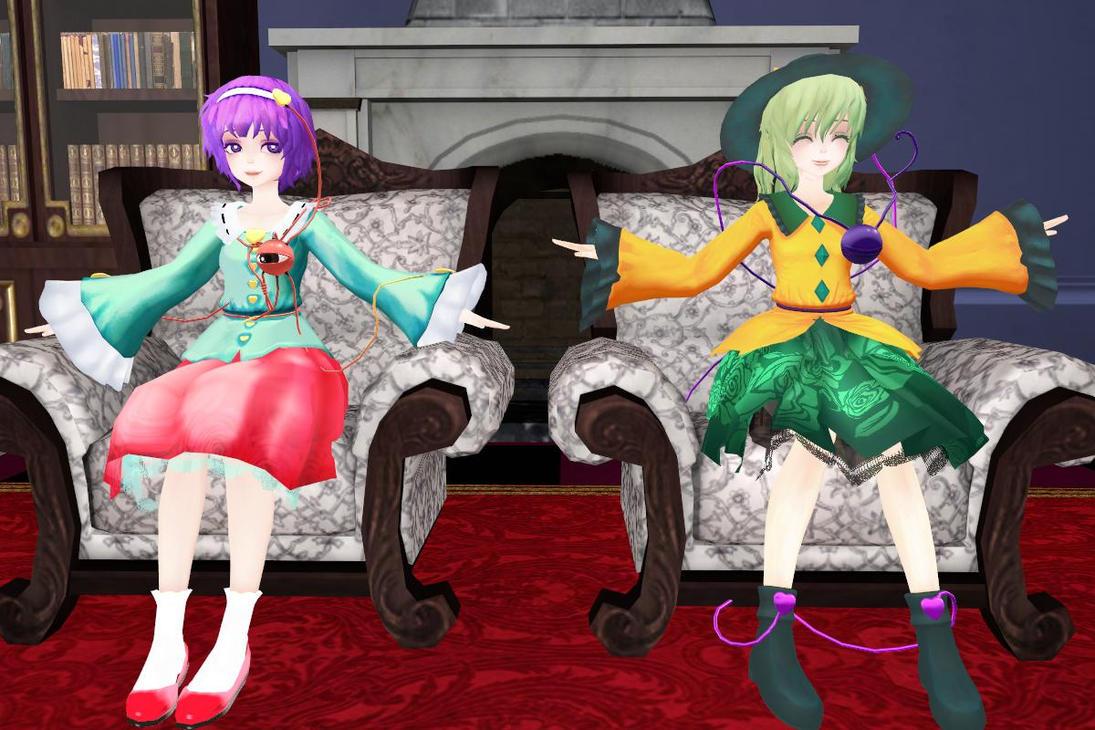 [MMD]Komeiji Sisters by Totalheartsboy
