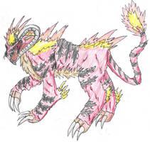 The Hellfire Cat Pokemon by ElementalHeroShadow2