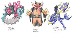 The Dark Starters Gen 5 by ElementalHeroShadow2