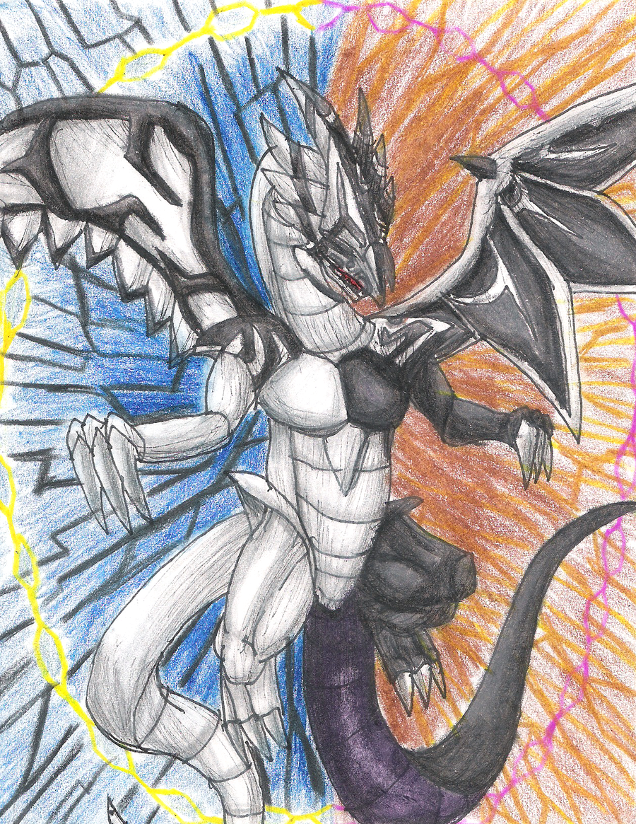 malefic light and darkness dragon by elementalheroshadow2