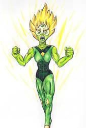 Super Saiyan Peridot by ElementalHeroShadow2