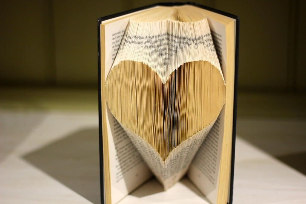 Amazing Folded Book Art Part - 8: Folded Book Art - Love Heart By Jewelia2 ...