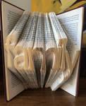 Folded Book Art - Family