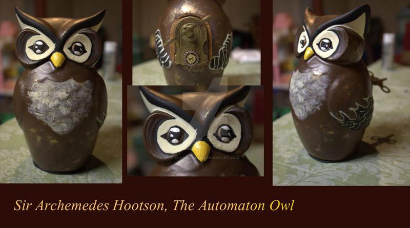 Sir Archemedes Hootson, The Automaton Owl by flamingchibi