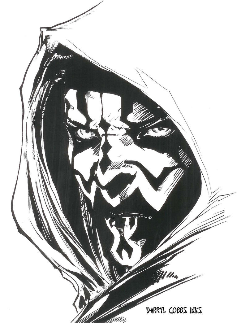 Darth Maul inks by ddcobbs