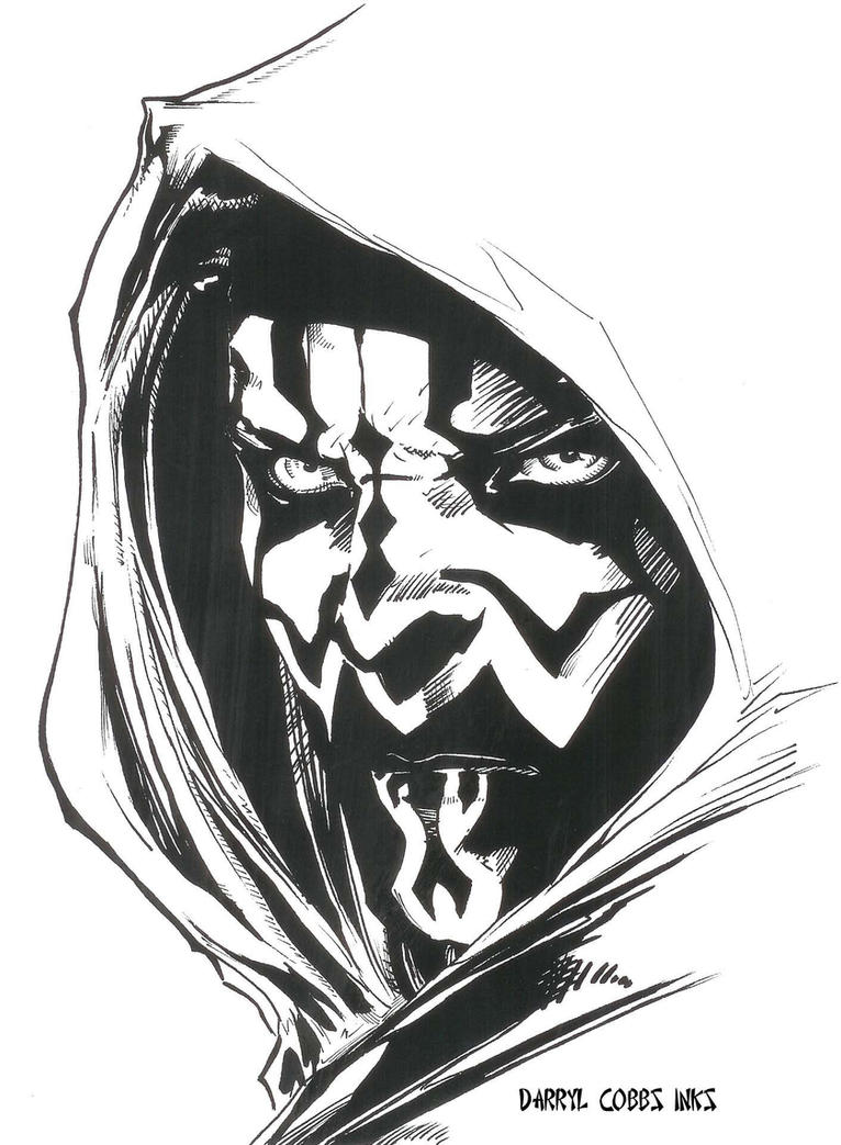 Darth Maul inks by ddcobbs