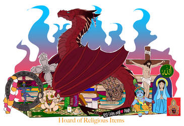 Hoard of Religious Items by Hibiscus-Dragon