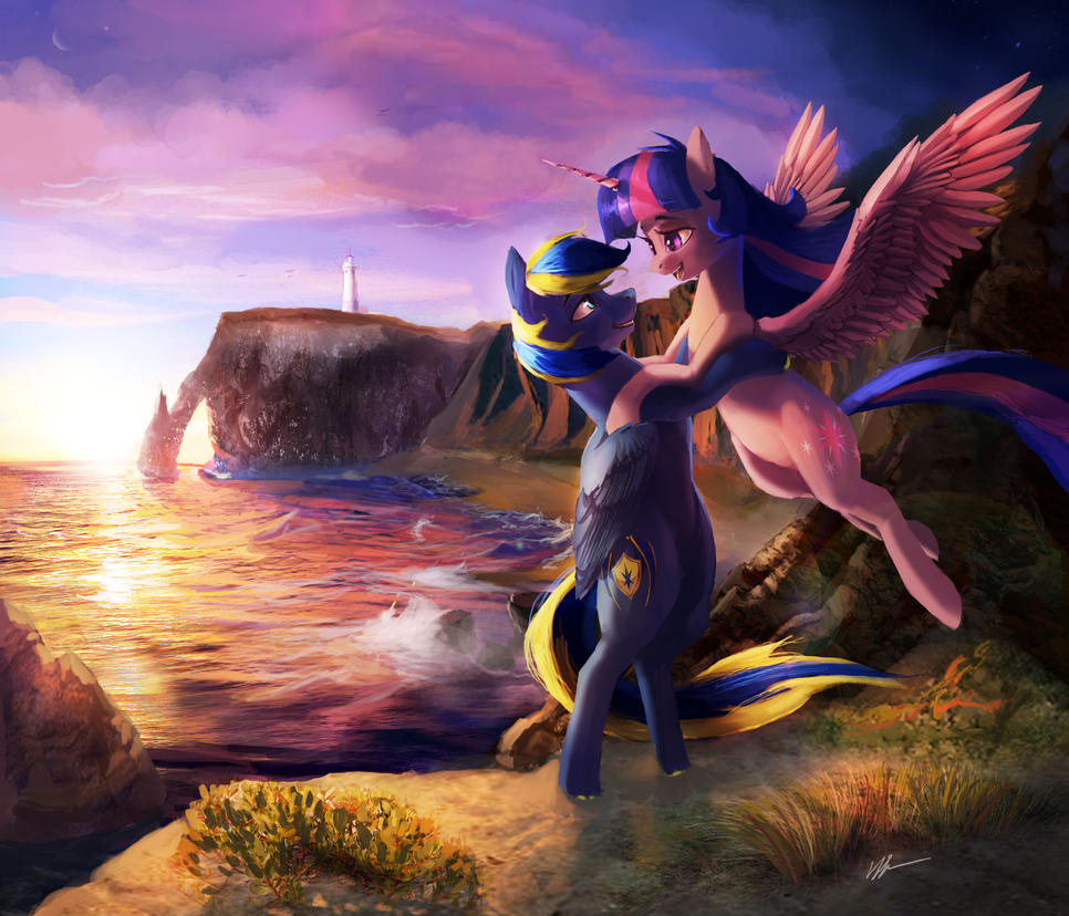 Tender Moment By The Cliffside (COM) by Tarantad0