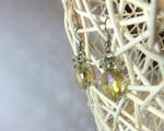 Faceted crystal earrings, glass. by smallparadise