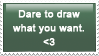 Dare to draw stamp by Ilona-the-Sinister