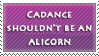 Cadance Shouldnt be an Alicorn Stamp by II-Art