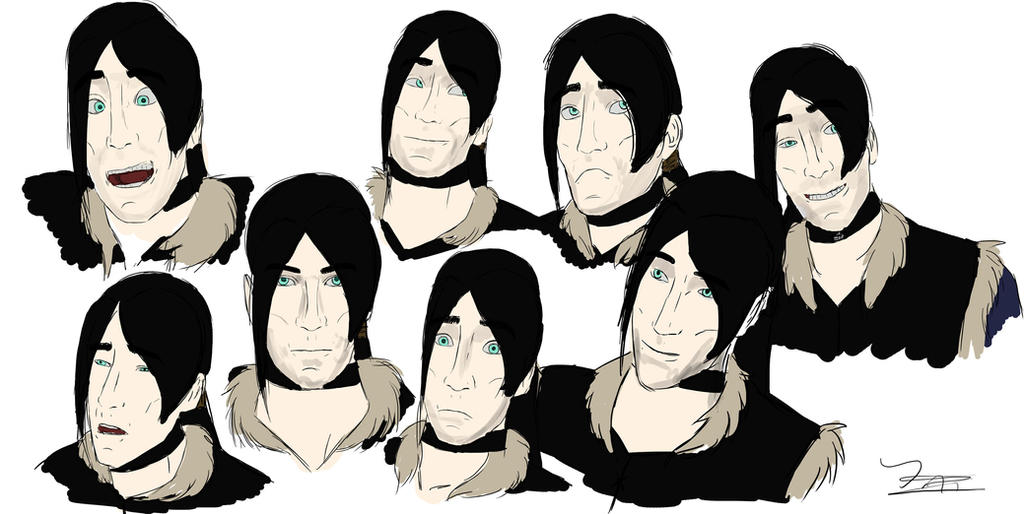 kiros expressions by ilonathesinister on deviantart