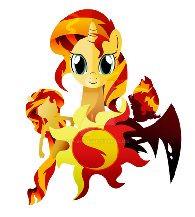 The 3 forms of Sunset Shimmer by Ilona-the-Sinister