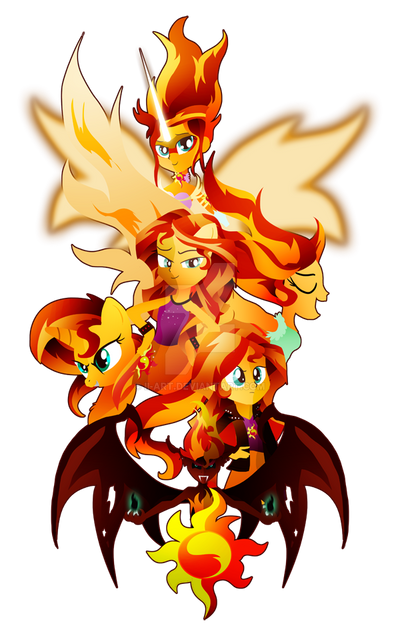 the_many_many_forms_of_sunset_shimmer_by