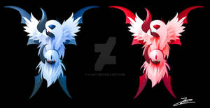 Absol and Shiny Absol