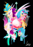 Princess Skystar and Queen Novo by II-Art