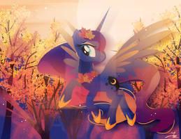 Autumn Princess Luna by II-Art