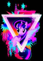 Neon Twilight Sparkle by II-Art