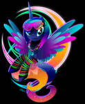 Synthwave Princess Luna by II-Art