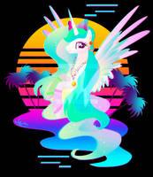 Synthwave Princess Celestia by II-Art