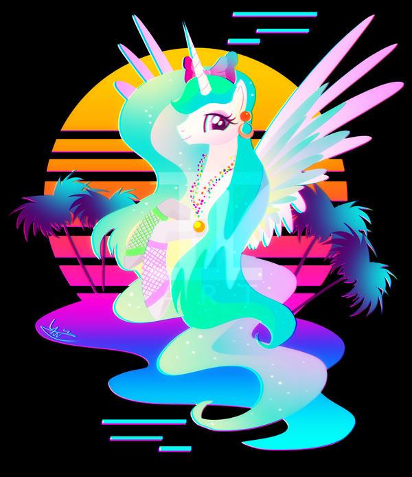 Synthwave Princess Celestia