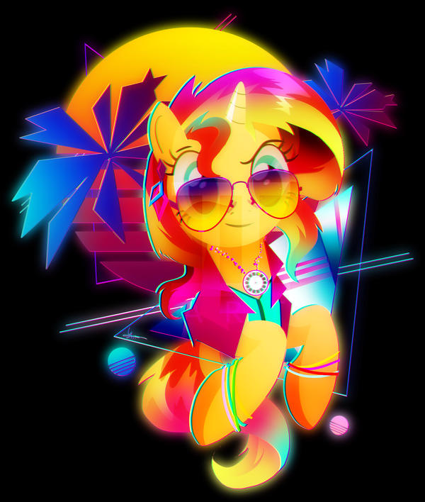 Synthwave Sunset Shimmer by II-Art