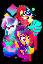 Synthwave Cutie Mark Crusaders by II-Art