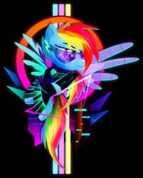 Synthwave Rainbow Dash