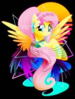 Synthwave Fluttershy by II-Art
