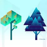 Flat Design Trees