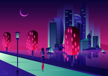Promenade at Night by II-Art