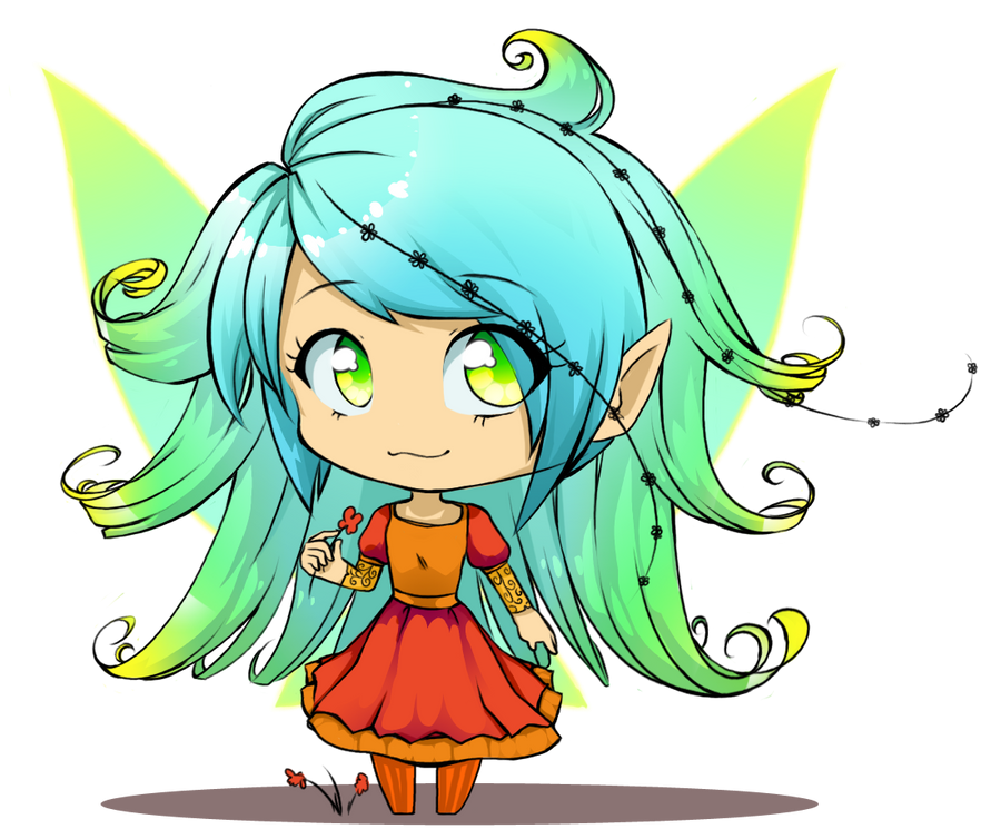 chibi anime girls fairy - photo #1