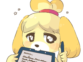 Isabelle: Sign here!~ by RockuSocku