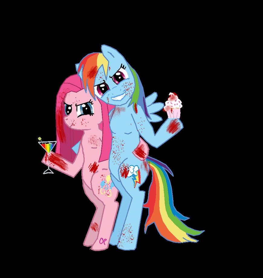 pinkamena and rainbowdash taste the rainbow by saintriddle