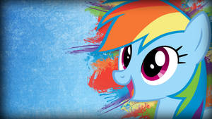 Grunge Rainbow Dash Wallpaper by TwopennyPenguin