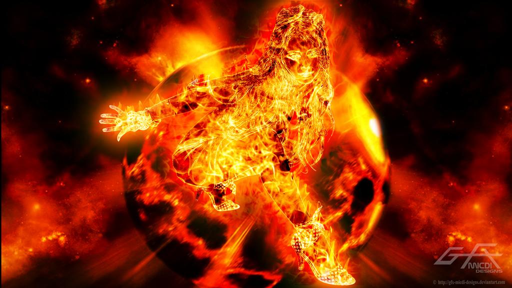 Nebula Girl - Widescreen Ver. by gfx-micdi-designs