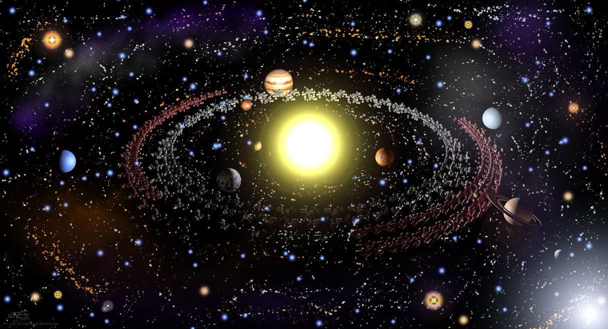 N' Kuiper Belt - Solar System by gfx-micdi-designs on ...