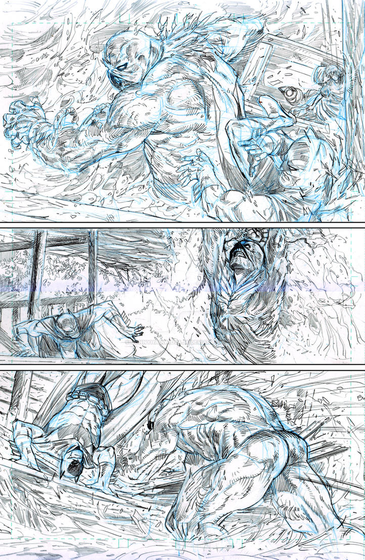 practice  Batman Swampthing Page 04 by donnyhadiwidjaja