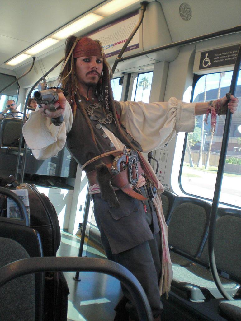 Jack Sparrow on the Light Rail by mini-hamu