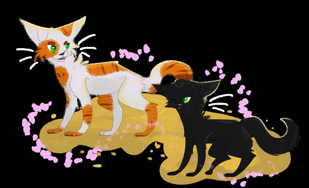 Warrior Cats Fallen Leaves And Hollyleaf By ClowderOrigins