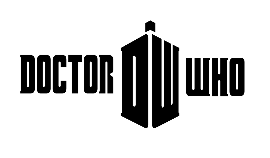Doctor Who 2010 Logo Basic BnW by TimeTravelingTardisDoctor Who Symbol